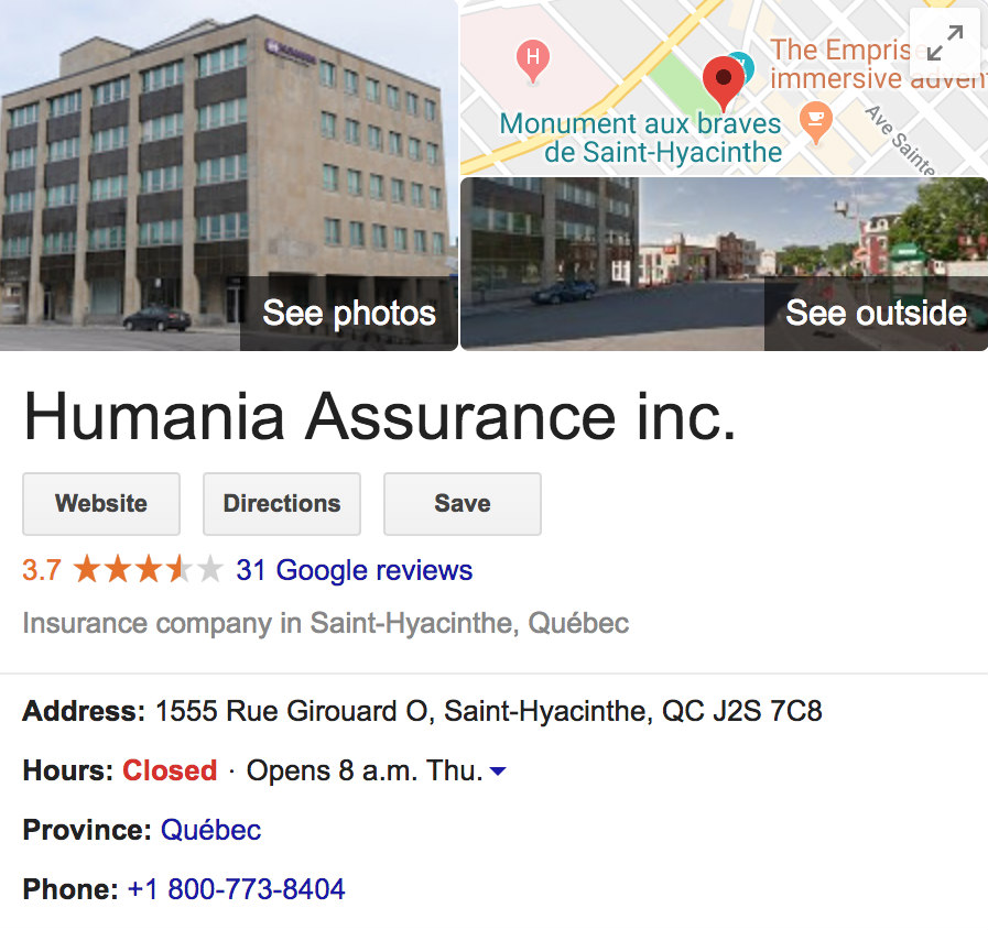 Humania Google Reviews