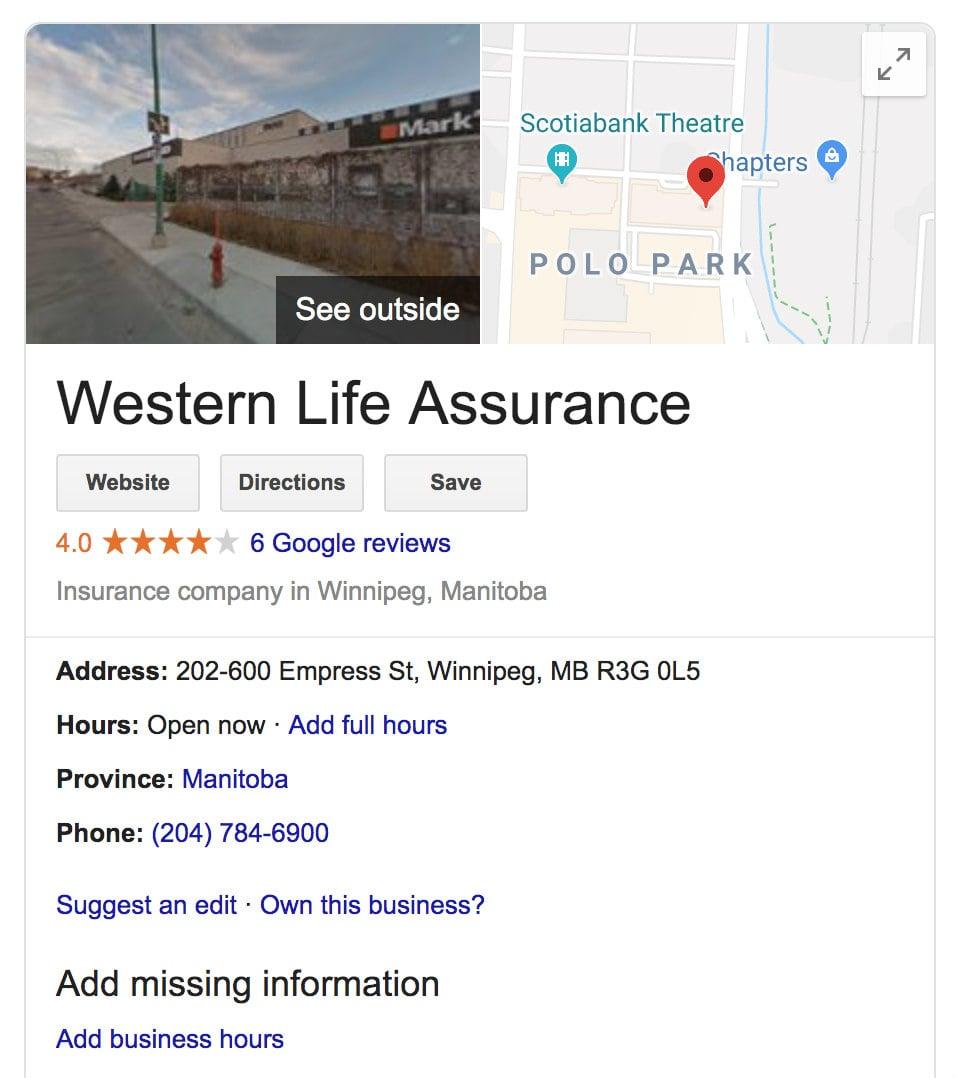 western life assurance google