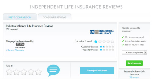 Industrial Alliance Life Insurance Insureye Review