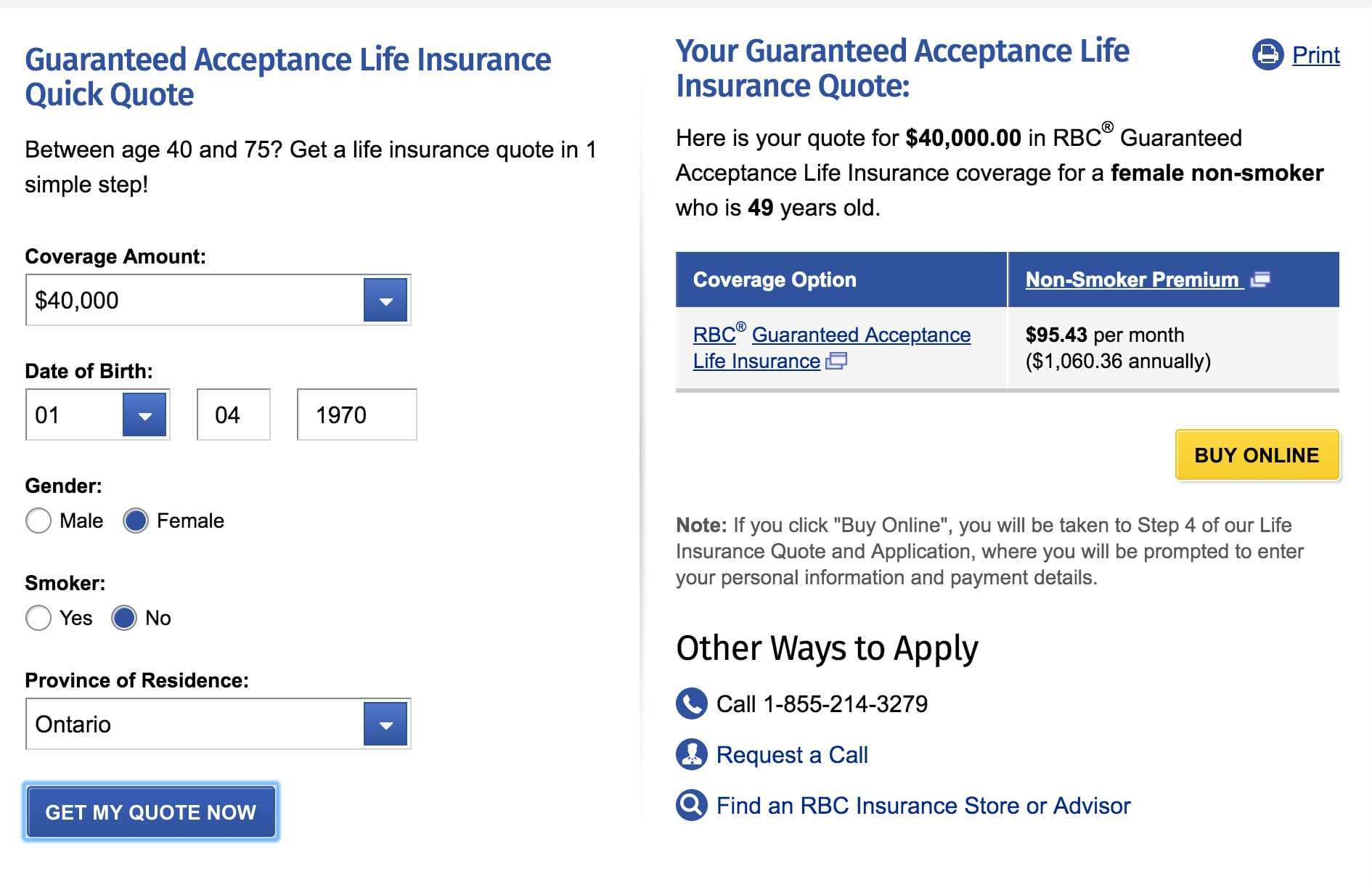 RBC Guaranteed Issue Life Insurance