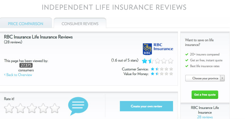 RBC Life Insurance Reviews Insureye