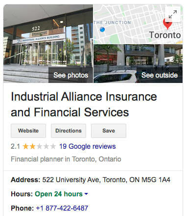 ia financial group reviews google